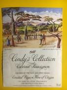 4388 - Cindy's Collection 1988 Cabernet Sauvignon  Afrique Du Sud Illustartion My People By David S. Matthe - Art