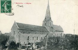 Blainville L'eglise Circulee En 1912 - Blainville Sur Mer