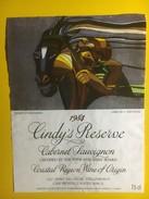 4389 - Cindy's Collection 1984 Cabernet Sauvignon  Afrique Du Sud Illustration Flight Of Ndongeni By L.Matsoso - Art