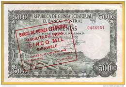 GUINEE EQUATORIALE - Billet De 5000 Bipkwele Sur 500 Pesetas. 21-10-1980. Pick: 19. NEUF - Guinea Ecuatorial