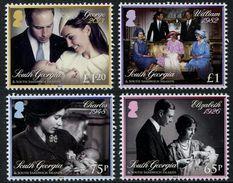 South Georgia 2014 - Baptême Prince Georges, Famille Royale - 4v Neuf (MNH) - Géorgie Du Sud