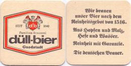#D064-390 Viltje Brauerei Düll - Sous-bocks