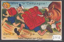 D41S   AK PC CPA DANS LE SAC IL Y A SAINT AIGNAN SUR CHER CARTE SYSTEME  C TTB - Saint Aignan