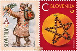 Slovenia. 2016. New Year - Grandfather Frost, Orange With Cloves (MNH OG **) Set Of 2 Stamps #DLC.ST-003190 - Slovenia