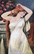 Künstlerkarte V.Franke GOLDBLONDINE Erotik Um 1910 - Frauen