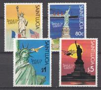 St. Lucie 1987 Mi. Nr.: 890-893 Freiheitsstatue, New York  Neuf Sans Charniere / Mnh / Postfris - St.Lucie (1979-...)