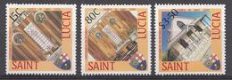 St. Lucie 1988 Mi. Nr.: 925-927 Methodisten-Kirche Auf St.Lucia  Neuf Sans Charniere / Mnh / Postfris - St.Lucie (1979-...)