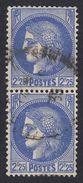 FRANCE Francia Frankreich - 1939 - Due Valori Yvert 374 Obliterati, Uniti Fra Loro, Oltremare, 2,25 F., Cerere - France
