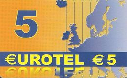 CARTE-PREPAYEE-EUROTEL-5€-GRATTEE-TBE - Autres Prépayées