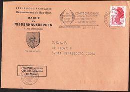 France Strasbourg Koenigshoffen 1987 / Tuberculosis - Bas Rhin Commitee / Mairie De Niederhausbergen / Machine Stamp - Disease