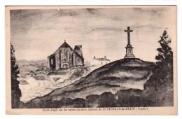 Croix érigée Sur Les Ruines Du Vieux Château De Saint-Nicolas-de-Brem - édit. Non Identifié  + Verso - Frankrijk