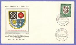 GER SC #754 1957 Saar Coat Of Arms FDC 01-02-1957 - [7] Federal Republic