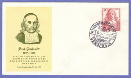 GER SC #763 1957 Paul Gerhardt FDC 05-18-1957 - FDC: Covers