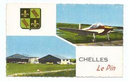 CPSM Aérodrome De Chelles ( France ) Avec Avion De Tourisme Style Piper Aztec - Aérodromes