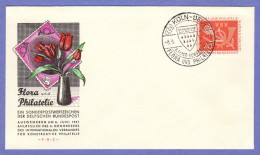 GER SC #764 1957 Flora And Philately Exhibition FDC 06-08-1957 - FDC: Covers