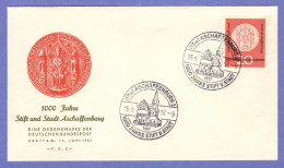 GER SC #765 1957 Abbey, Town Of Aschaffenburg 1000th Anniv. FDC 06-15-1957 - FDC: Covers