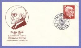 GER SC #777 1957 Rabbi Leo Baeck FDC 11-02-1957 - FDC: Covers