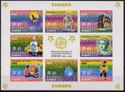 Tchad 2006, 50th Europa Stamps, Clown, 8val In BF IMPERFORATED - Circus
