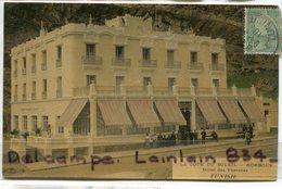 - KORBOUS  - ( Tunisie ), Hôtel Des Thermes, épaisse, La Côte Du Soleil, Non écrite, Animation,1910, TBE, Scans. - Tunesien