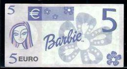 """5 EURO """"BARBIE"""" Billet Scolaire, Papier, 86 X 46 Mm, RRRR, UNC -, Uniface - EURO"""
