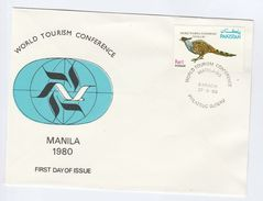 1980 PAKSITAN FDC BIRD, TOURISM  Stamps Cover Birds - Pakistan