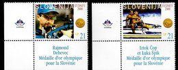 Slovenia: 2000 Sydney Olympics Gold Medal Winners: Cop & Spik; Debevec 2v MNH - Slovénie