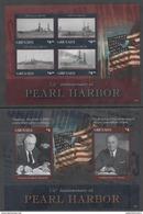 GRENADA, 2016, MNH, WWII, PEARL HARBOR, SHIPS, ROOSEVELT, TRUMAN,  SHEETLET + S/SHEET - WW2