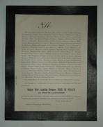 FAIRE-PART DECES 1887 THOME DE PERGAUD DODE De LA BRUNERIE DECROSO D'AIGLUN Allex Drôme Généalogie - Décès