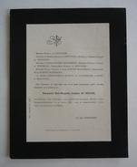 FAIRE-PART DECES 1888 De VENTAVON BONNET-MASIMBERT ENGELFRED De BLIEUX De VAUFRELAND St-Georges-de-Commiers Isère - Obituary Notices