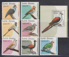 Guinea-Bissau Sc 811-18 MNH Birds - Columbiformes