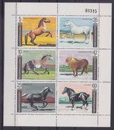 Bulgaria 1991 Sc3619a  Mi3903-08 1 MS MNH Horses - Horses