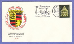 GER SC #778 1957 Wurttemberg Assembly, 500th Anniv. FDC 11-16-1957 - [7] Federal Republic