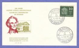 GER SC #768 1957 Liebig School, Ludwig Univ., 350th Anniv. FDC 07-03-1957 - FDC: Covers