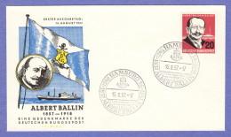 GER SC #769 1957 Albert Ballin FDC 08-15-1957 - FDC: Covers