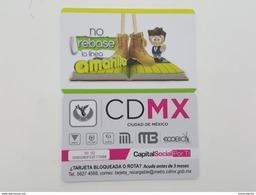 MEXICO - METRO - RECHARGEABLE CARD - NO REBASE LA LINEA AMARILLA - Wochen- U. Monatsausweise
