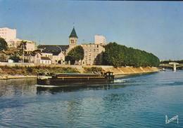 93----ILE SAINT-DENIS---quai De Seine--( Péniche )( Peu Courante )--voir 2 Scans - L'Ile Saint Denis
