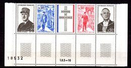 """1 Bande Neuve ** MNH """" GENERAL DE GAULLE. N° 1698A. Parfait état. Cote 3.50 €. - De Gaulle (General)"""
