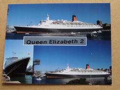 QUEEN ELIZABETH 2 - Cunard Line - Anno 19?? ( Zie Foto Details ) !! - Dampfer