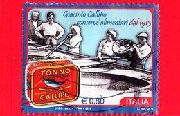 ITALIA - Usato - 2014 - Giacinto Callipo, Conserve Alimentari - Cottura Dei Tranci Di Tonno - 0,80 - 6. 1946-.. Republik