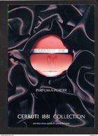 """Publicité Parfum Pour Femme """" Cerruti 1881 Collection""""  Avec échantillon Au Verso - Publicité"""
