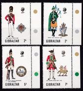 Gibraltar, 1970, 237/40, Militäruniformen (II).  MNH **, - Gibraltar