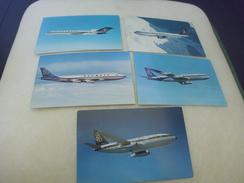 LOT DE 5 CARTES COMPAGNIE OLYMPIC..BOEING 747..727..707..737 ET AIRBUS A300 - Cartoline