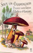 ¤¤    -   Carte Fantaisie   -   CHAMPIGNON  -  Bébés Multiples  -  Garçons Et Filles  -   ¤¤ - Champignons