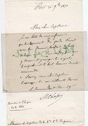 Guerre De 1870. Garde Nationale. Lettre écrite Par M. Chaper, Commandant Du 59e Bataillon Au Capitaine Lambin. 1870. - Documents