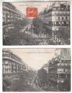 Lot De 2 CPA - 75009 - Le Boulevard Montmartre - FRANCO DE PORT - District 14