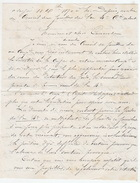 Guerre De 1870. Garde Nationale. Capitaine Lambin. Lettre  De Demande De Fonds Pour L'ex 4e Compagnie. - Documenti