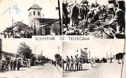 ¤¤  -  ALGERIE   -  Souvenir De TELERGMA  -  Multivues  -  Marché , Militaires........    -  ¤¤ - Constantine