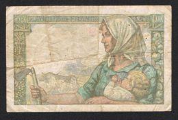 """) FRANKRIJK  10 FRANCS """" MINEUR """" K.4=12=1947.K - 1871-1952 Anciens Francs Circulés Au XXème"""