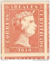 ESPAÑA YVERT ET TELLIER NRO. 3 COTE 2300 EUROS AÑO 1850 ISABELLE II FALSCHE FALSO FACSIMILE RARE - 1850-68 Kingdom: Isabella II