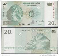 Congo DEALER LOT ( 5 Pcs ) P 94A - 20 Francs 30.6.2003 - UNC - Congo